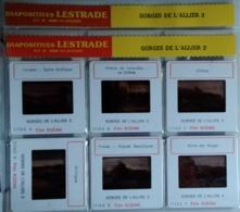 GORGES DE L'ALLIER   2/3    : 12 DIAPOSITIVES LESTRADE SUR FILM KODAK - Dias