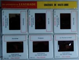 CHATEAUX DE HAUTE-LOIRE   : 6 DIAPOSITIVES LESTRADE SUR FILM KODAK - Dias