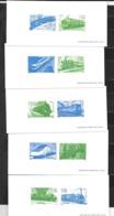 """France: Reprise Du Timbre N° Y & T 3405/3414 """"Les Légendes Du Rail"""" - Documenten Van De Post"""