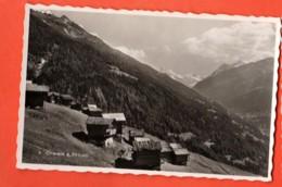 KAF-14  Anniviers Chalets à Saint-Luc Circulé . Perrochet NO 4, Visa Censure ACF 1939 - VS Wallis