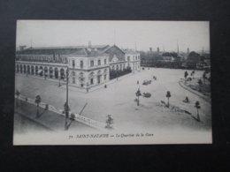 CP FRANCE (V1803) SAINT NAZAIRE 44 (2 Vues) Le Quartier De La Gare - Saint Nazaire