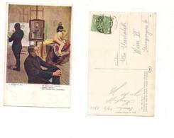 FB108 POSTCARD Quadro Pittore KLIMOWSKI 1914 Stamps Austria Osterreichische Post - Pittura & Quadri