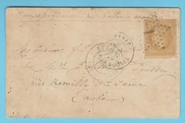 J.M. 30 - France - N° 13 - Carte Par Ballon Monté. - Ballon Non Dénommé 2 - Marcophilie (Lettres)
