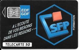CARTE-PUCE-PRIVEE-PUBLIC- 50U-EN-581-SC5-01/93-V° 5Ge 44919-EDF-SFP-Utilisé-TBE-RARE - France