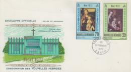 Enveloppe  FDC  1er Jour   NOUVELLES  HEBRIDES    Noël   1972 - FDC