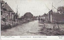 80 MAUCOURT ROUTE DE L EGLISE A LA FORGE GUERRE 1914 1918 - Guerra 1914-18