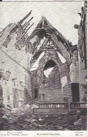 80 MAUCOURT INTERIEUR DE L EGLISE GUERRE 1914 1918 - Guerra 1914-18