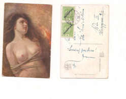 FB116 POSTCARD Quadro Pittore NAPOLEONE GRADI MARTIRE NUDO 1919 Stamps Austria Osterreichische Post - Malerei & Gemälde