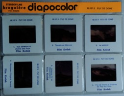 PUY DE DOME   : 6 DIAPOSITIVES BRUGUIÈRE SUR FILM KODAK - Diapositives (slides)
