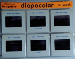 LAC D'AYDAT  : 6 DIAPOSITIVES BRUGUIÈRE SUR FILM KODAK - Dias