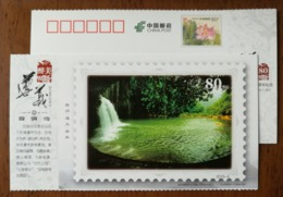 Deep Forest Waterfall In Sidonggou Scenic Spot,China 2015 The 80th Anni. Of Zunyi Meeting Pre-stamped Card - Holidays & Tourism