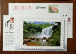 Chishui Grand Waterfall In National Key Scenic Spot,China 2015 The 80th Anni. Of Zunyi Meeting Pre-stamped Card - Holidays & Tourism