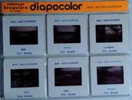 LES LACS D'AUVERGNE  : 6 DIAPOSITIVES BRUGUIÈRE SUR FILM KODAK - Dias
