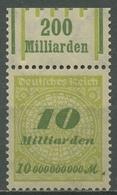 Deutsches Reich Inflation 1923 Korbdeckel Walzen-Oberrand 328 A W OR Postfrisch - Deutschland
