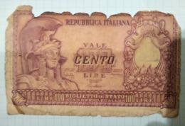 100 Livre - [ 2] 1946-… : Républic