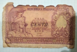 100 Livre - [ 2] 1946-… : República