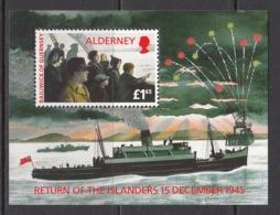 1995 Alderney  WWII World War II Return Of Islanders  MNH  @ BELOW FACE VALUE - Alderney