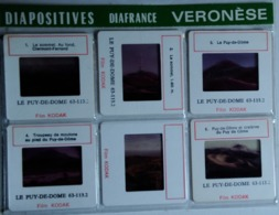 LE PUY-DE-DOME  : 6 DIAPOSITIVES VERONÈSE SUR FILM KODAK - Dias
