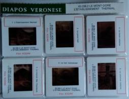 LE MONT-DORE - L'ETABLISSEMENT THERMAL   : 6 DIAPOSITIVES VERONÈSE SUR FILM KODAK - Diapositives