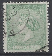 España U 0084 (o) Isabel II. 1866. Foto Exacta - 1850-68 Reino: Isabel II