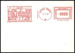 ITALIA PAVIA 1999 - SPECIMEN AICAM (NO POSTALE) - 11 LUGLIO 1899 - FIRMA DELL'ATTO DI COSTITUZIONE DELLA FIAT - Automobili