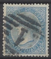 España U 0088 (o) Isabel II. 1867. Foto Exacta - 1850-68 Reino: Isabel II