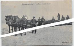 1908. CAYEUX-sur-MER. Les Ramasseurs De Galets. Attelage Tractant Des Wagonnets Sur Rails. Parfait état. Réf 2/65 - Altri