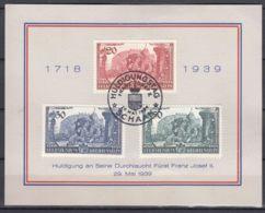 Liechtenstein 1939 Mi#180-182 On Nice Commemorative Card, First Day Of Issue Postmark, 29. Mai 1939 - Briefe U. Dokumente
