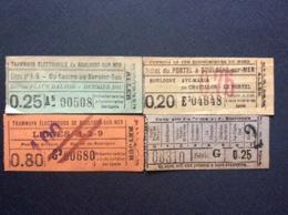 *TRAMWAYS ÉLECTRIQUES DE BOULOGNE-SUR-MER*COMPAGNIE DES TRAMWAYS DU BOULONNAIS*CHEMINS DE FER ÉCONOMIQUES DU NORD 1900 - Tram