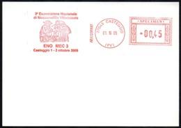 ITALIA CASTEGGIO 2005 - SPECIMEN AICAM (NO POSTALE) - ENO-MEC 3 - 3 ESPOSIZIONE NAZIONALE MECCANOFILIA VITIVINICOLA - Vini E Alcolici