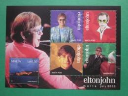 2003 - ELTON JOHN MINIATURE SHEET - MINT NEVER HINGED S.G. No. MS 1315 - Malta