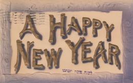 Jewish New Year , A Happy New Year , 1909 - Judaika