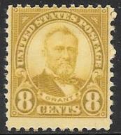 1927 8 Cents Grant, Mint Light Hinged, Scott #640 - Estados Unidos