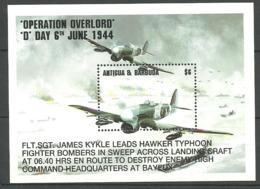 Antigua& Barbuda 1994 Operation Overlord D Day 6th June 1944 - Plane, Mi Bloc 298, Unused - Antigua Und Barbuda (1981-...)
