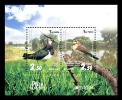 Bosnia And Herzegovina 2019 Mih. 768/69 (Bl.66) Europa. National Birds. Fauna. Northern Lapwing And Horned Lark MNH ** - Bosnie-Herzegovine