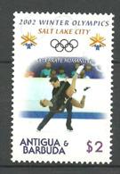 Antigua& Barbuda 2002 Winter Olympics Salt Lake City, Ice Dance, Mi 3723 MNH - Antigua Und Barbuda (1981-...)