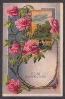 93439/ FLEURS, Illustration, Roses, Gaufrée, *Gage D'affection* - Blumen