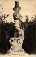 CPA PARIS (5e) La Statue De Mortillet. Square Des Arenes (535207) - Statues
