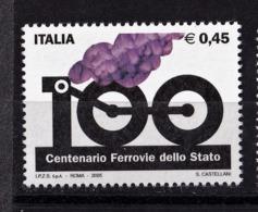 Italy, 2005- Centenario Dell'istituzione Delle Ferrovie Dello Stano. MintNH - 6. 1946-.. Republic