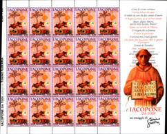 92151) SAN MARINO -0,85 €-Iacopone Da Todi- Celebrazioni D'autore - 13 Novembre 2006--MINIFOGLIO -MNH** - Blocs-feuillets