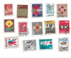 Yugoslavia LOT Of 14 Stamp RED CROSS - Jugoslavia