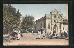 CPA Mostaganem, L`Avenue Du Ier De Ligne - Mostaganem