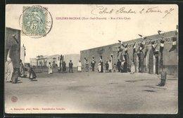 CPA Colomb-Bechar, Rue D`Ain-Chair, Boulangerie, Cafe, Epicerie - Bechar (Colomb Béchar)