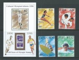 Fiji 1996 Atlanta Summer Olympic Games Set 4 & Miniature Sheet MNH - Fiji (1970-...)