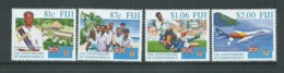 Fiji 1995 Independence Anniversary Set 4 MNH , $1.06 With Printer's Blue Ink Stain On Verso - Fiji (1970-...)