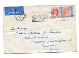 Rhodesia Flam DOG Licence Send To Germany 1957 - Rhodesia & Nyasaland (1954-1963)