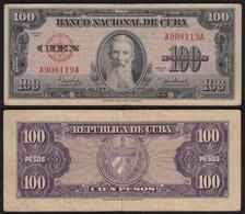 Kuba - Cuba 100 Peso 1950 Pick 82a F/VF (3/4)    (25726 - Bankbiljetten