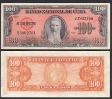 Kuba - Cuba 100 Peso 1959 Pick 93 VF (3)    (25727 - Billetes