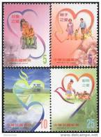Taiwan 2003 Love Stamps Wheelchair Disabled Challenged Paper Kite Heart Volunteer Family Cat Dog Chess - Unused Stamps