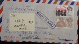 L) 1975 MEXICO, MEXICO EXPORT, HAMMERED COPPER, 30C, AGRICULTURAL MACHINE 5.20P, MUSSENT TO MANILA, AIRMAIL - Mexico